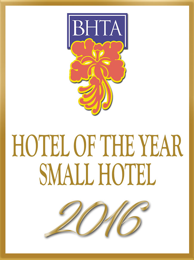 BHTA 2016 Winner of the 'Small Hotel of the Year' Awards